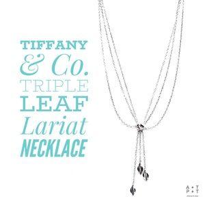 Tiffany & Co. Nature Leaf Triple Lariat Necklace